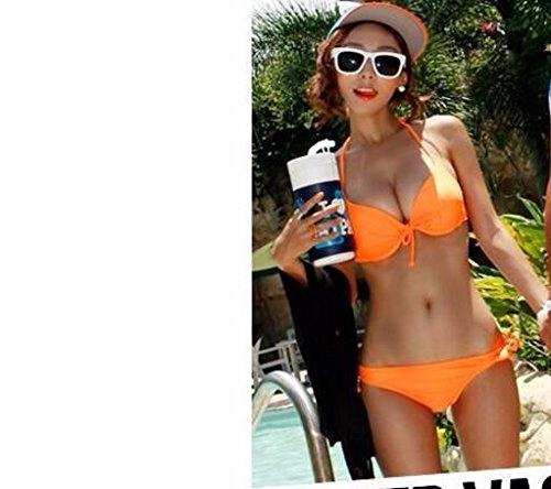 YUPE Hot spring Badeanzug Orange Bikini Girls 2 Stück der Bademode eingestellt