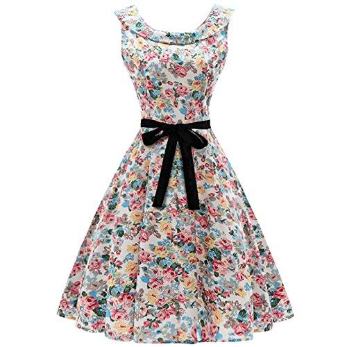 Big Clearance! Daoroka Vintage Floral Print Sleeveless Vest
