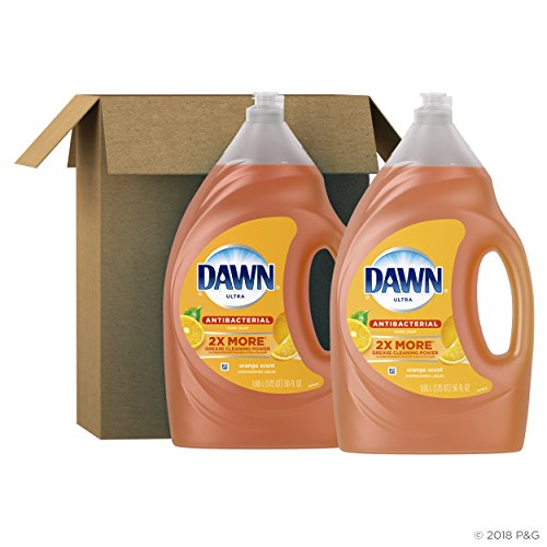 Dawn Antibacterial Dishwashing Liquid Dish Soap, Orange Scent, 56 Fl Oz,Pack of 2(Packaging May Vary)