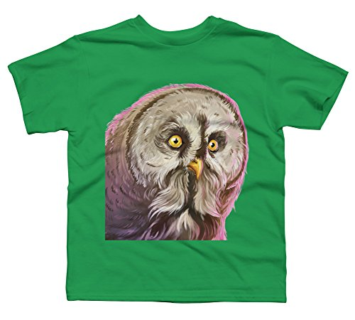 - Tawny Owl Boy's Small Kelly Green Youth Graphic T Shirt - Design By Humans