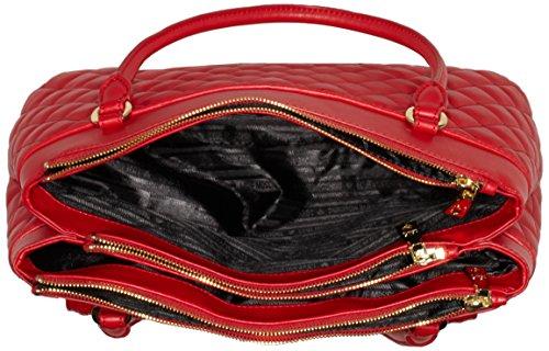 Love Moschino JC4014, Borsa con Maniglia Donna, 14x26x40 cm (B x H x T) Rosso (Red)