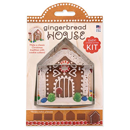 Cutter Assembly Kit (Small Gingerbread House Cookie Cutter Kit - Ann Clark - 4 Inch - US Tin Plated Steel)