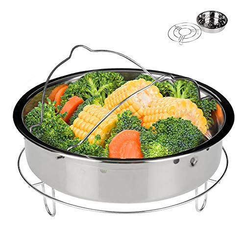 (Secura Stainless Steel 6-quart Electric Pressure Cooker Steam Rack Steamer Basket Insert Set)