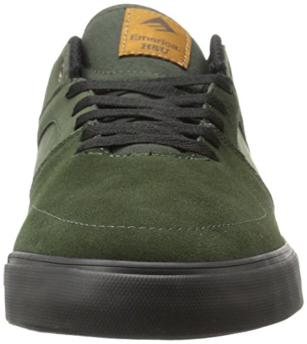 Emerica The Hsu Low Vulc, Color: Green/Black, Size: 45 Eu / 11 Us / 10 Uk