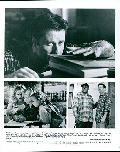 "Good photo of John Travolta, Kyra Sedgwick, David Gallagher, Ashley Buccille and Forest Whitaker in a 1996 American romantic creativity drama film, ""Phenomenon."""