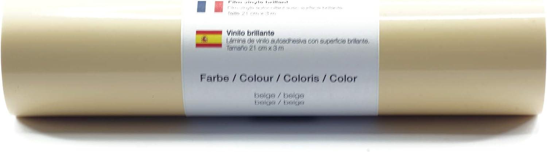 Pellicola autoadesiva per plotter pellicola vinilica 21 cm x 3 m lucido 39 colori a scelta tra cui scegliere Gl/änzend L-Serie:Gold