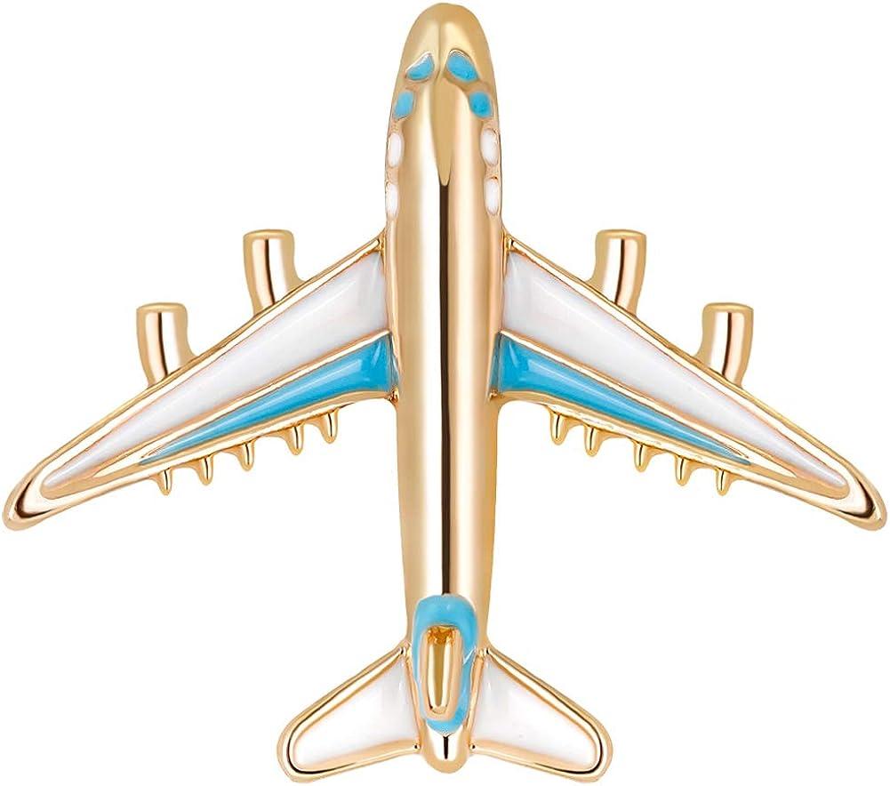 YAZILIND Moda avión avión Broche Pins Mujeres Breastpin Ramillete niñas joyería Regalo