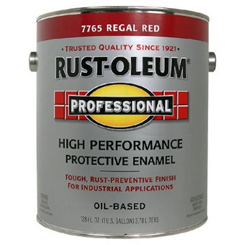 RUST-OLEUM 215965 Professional Gallon Regal Red Enamel - Rust Oleum Industrial Enamel