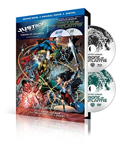 Blu-ray : Justice League: Throne of Atlantis / Justice League: Volume 3: Throne OfAtlantis Graphic Novel (With DVD, Ultraviolet Digital Copy, Digibook Packaging, 2 Pack, 2 Disc)