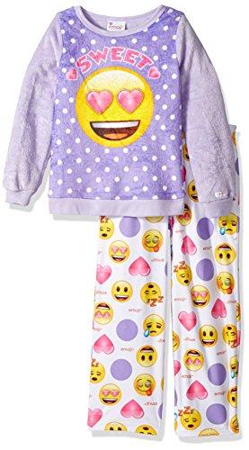 Emoji Girls' Officially Branded 2-Piece Luxe Plush Pajama Set