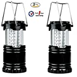LED Camping Lantern - Ultra Bright LED Camping Light, Outdoor Waterproof Flashlight Hiking Light, Portable Collapsible Portable Outdoor LED Camping Lantern (2 Pack)