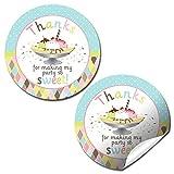 ice cream labels - Ice Cream Banana Split Birthday Party Thank You Sticker Labels, 20 2