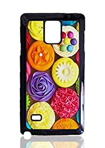Coloful Cup Cakes Custom Hard Plastic back Phones Case for Samsung Galaxy Note4 - Galaxy Note 4 Case Cover