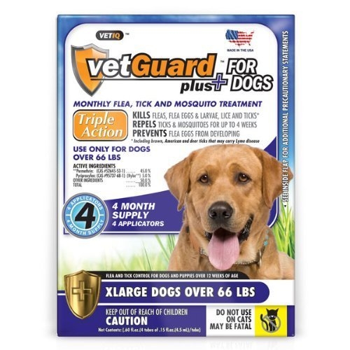 VetGuard Plus For Dogs XLarge over 66 LBS 4 Month Supply