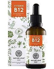 Vitamin B12 Tropfen Vegan in 50ml (1700 Tropfen). Hochdosiert: 1000µg je Tagesdosis. Beide aktive B12 Formen: Methyl- & Adenosylcobalamin. Hoch bioverfügbar, laborgeprüft, hergestellt in Deutschland