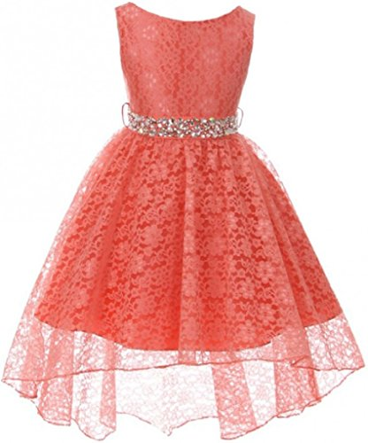 Dresess For Girls - Big Girl Sleeveless Rhinestone Belt High