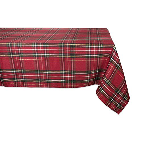 - DII CAMZ10910 Metallic Tablecloth, Perfect for Dinner Parties, Christmas, Holidays, Or Everyday Use 60x120, Plaid