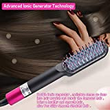 Hair Straightener Brush – Hair Straightening Iron with Built-in Comb, Fast Heating- Beard Straightener, Anti-Scald,with LED Temp Display Straightening Brush for Home,Travel and Salon