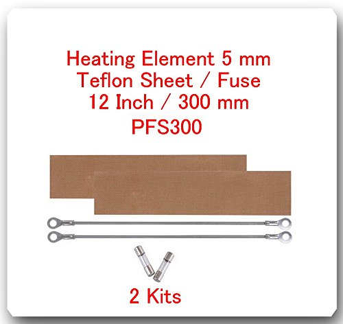 (2 Kits) Replacement Elements for Impulse Sealer PFS-300 12