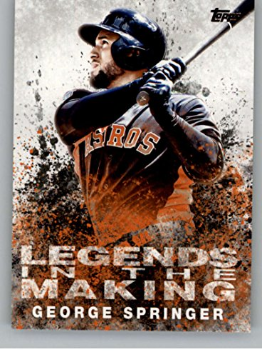 2018 Topps Legends in the Making #LITM-10 George Springer Houston Astros Baseball Card