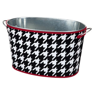 Game Day Gear Beverage Tub with Houndstooth Cover