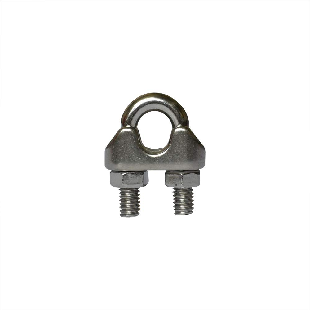 Yuauy 5 pcs M3 1//8 Inch Wire Rope Cable Clip Clamp Stainless Steel