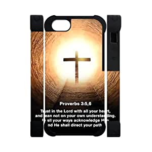 Canting_Good Jesus Christ cross and Bible verse Custom Dual-Protective 3D Polymer Case Shell Skin for IPhone 5