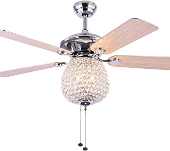 RZZX Luz de ventilador de techo giratoria simple americana Techo ...