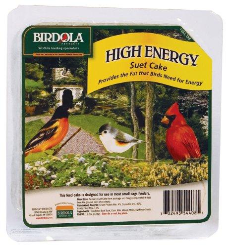 - Birdola High Energy Suet Cake for Multiple Types of Birds, 11.5-Ounce