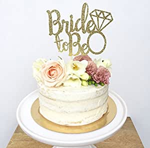 Amazon.com: Bride to Be Cake Topper. Miss To Mrs - Bridal Shower ...