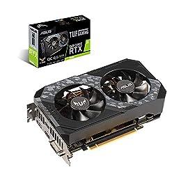 ASUS TUF Gaming GeForce RTX 2060 Overclocked 6GB Edition 4K VR Ready HDMI 2.0b DP 1.4 Graphics Card (TUF-RTX2060-O6G-GAMING)