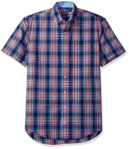 IZOD Mens Big and Tall Advantage Performance Poplin Short Sleeve Shirt