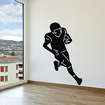 Olivia DIY American Football Player Wall Stickers Graphic Vinyl Removable  Rugby Football Wall Decals Sport Wall