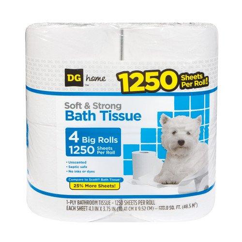 Amazon.com: Dg Home 5000 hojas 4 rollos: Health & Personal Care