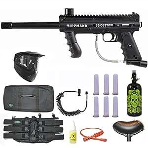 Tippmann 98 Custom Paintball Marker Gun 3Skull Nitro Sniper Set