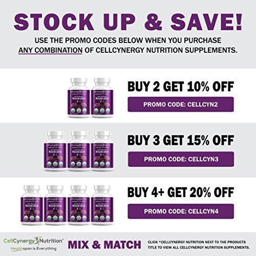 Pure 100 Natural Resveratrol Best Trans-Resveratrol Antioxidant Supplement Supports Heart Health Blood Pressure Anti-Aging Focus Inflammation Immunity Eyesight 60 Veggie Capsules Non-GMO Discount