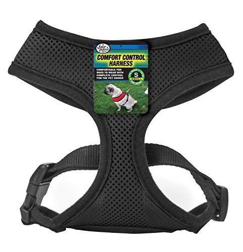 (Four Paws Products - Cool Things for Your Dog! (Comfort Control Harness Black, Small))