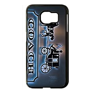 Wish-Store Coach leatherware carriage pattern Phone case for Samsung galaxy s 6