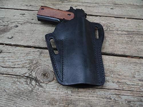 Amazon.com: Western Gun Holster #508 – Negro – Cuero liso ...