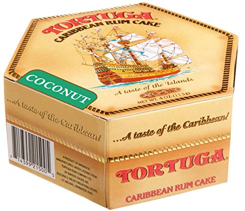 Tortuga Caribbean Rum Cake, 4 ounce Coconut Flavored