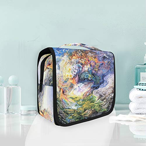 Toiletry Bag Abstract Art Mother Earth Forest Portable Makeup Storage Cosmetic Bag -
