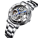 Wristwatch Mechanical Women's Carving Skeleton Auto self-Wind Watches Transparent
