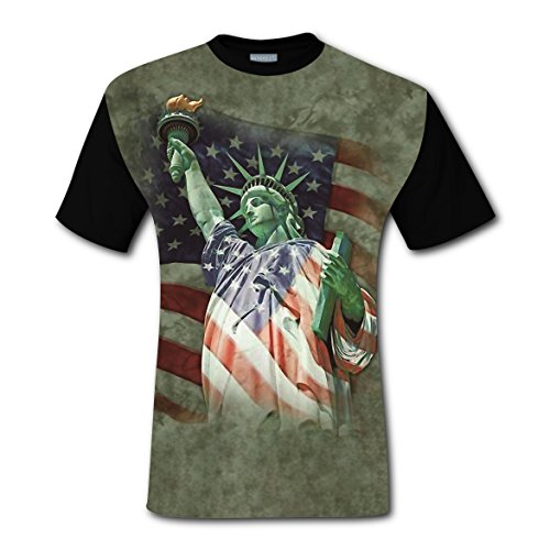 LZQ Tshirt Man 100% Cotton New Slim Fit Tee Clothing 3D Customized With Defending Liberty For Men - Of Liberty Place Style Man