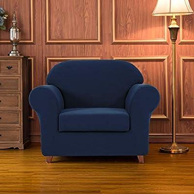 Subrtex 2-Piece Geometric Printed Stretch Fabric Sofa Slipcovers for Living Room