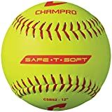 Champro Safe-T-Softball Cover (Optic Yellow, 12-Inch), Pack of 12