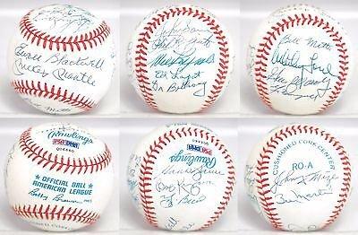 Yankees Team Signed Baseball - 5