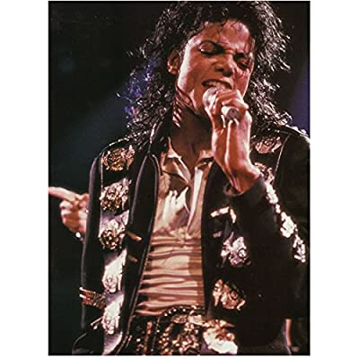 Michael Jackson King of Pop Singing into Microphone on Stage 8 x 10 Inch Photo