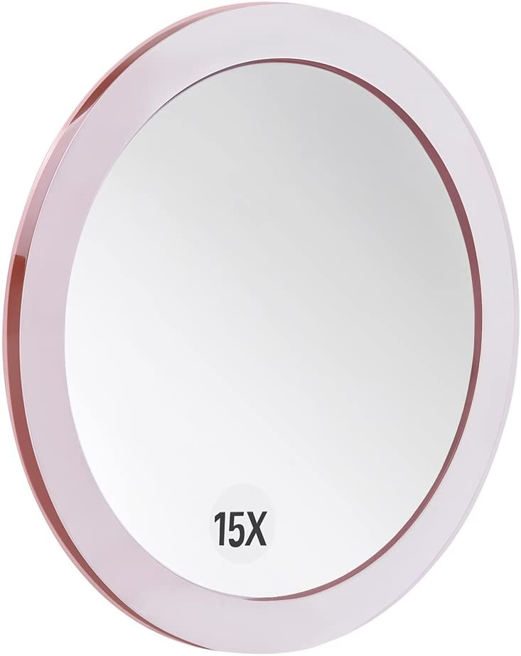 4 Inch Round Bathroom//Travel Makeup Mirror Blackhead//Blemish Removal Used for Precise Makeup Application 20X Magnifying Mirror with 3 Mounting Suction Cups Eyebrows//Tweezing