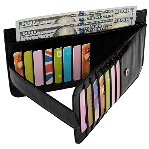 YALUXE Womens Credit Leather Wallet