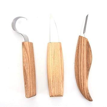 Tradtrust - Juego de Cuchillos cortadores de Madera para ...